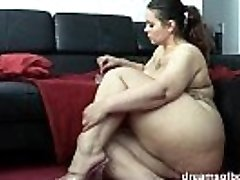 German Plus-size Pawg Samantha is taunting while she is smoking a cigarette