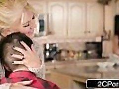 Silly Boy Gets Lucky With Mom'_s Hot Friend Ariella Ferrera