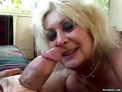 Threesome with Grandmother and BBW