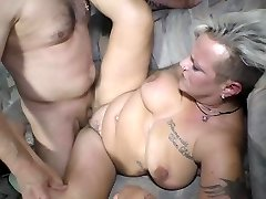 Deutschland Report - 40+ German super-bitch Judith S. gets pummeled and cum covered