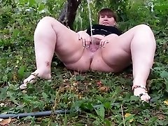 Fur Covered BBW pissing part 1