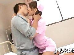 Japanese nurse deals patient's xxl wang in stellar manners