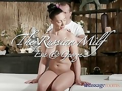 Massage Rooms Sexy Russian Milf has numerous orgasms from expert masseur