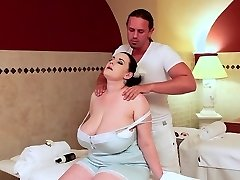 The BBW Sauna Nymph Gets Well-lubed Up