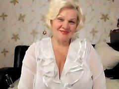 Towheaded granny big tits