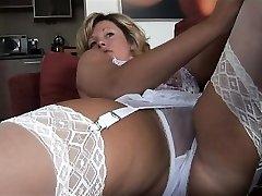 Enormous boobs erotic babe creampie fuck
