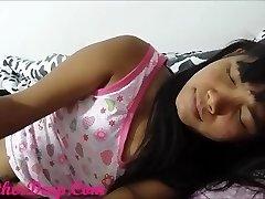 Heather Deep sleeping gets woken up for throatpie creamthoat