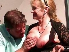 German Step-Mom Want His Big Man Rod and Seduce him to Nail her