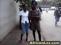 Dirty ebony fucksluts having lesbo fun in bathroom