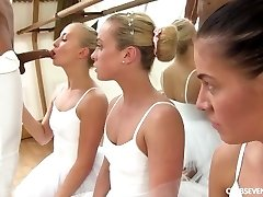 Cayla Lyons, Evelyn Dellai, Vinna Reed Pleasuring the ballet educator