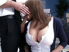 Big-chested babe Madison Fox plays the flute and sucks gigantic boner of her teacher
