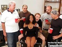 Beautiful Big Tit Teenie Ravaged by Bukkake Geysers