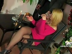 Anal date with buxomy platinum-blonde Russian girl
