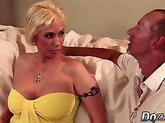 Blonde MILF wife big knob anal creampie