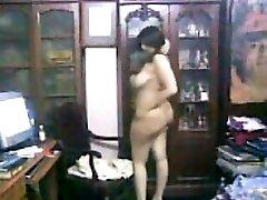 Curvy Arab Gal Teasing Her Thick Body