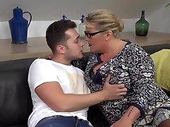 Desperate mother seduce and shag lucky son