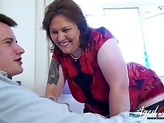 AgedLovE Busty Mature Playing Stiff with Handy Dude
