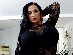 Fantastic Czech nymphomaniac Valentina Ross in super-steamy striptease compilation