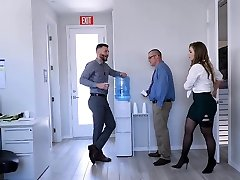 TeamSkeet - Busty and Hairy Office Honey Boinked By Colleague