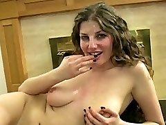 Pretty big tit mega-slut bukkake