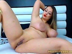 Honey With Big Hooters Ass And Nipples Masturbates
