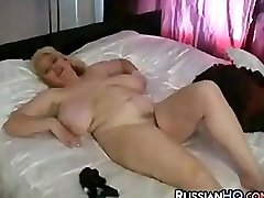 Mature Plus-size Masturbating