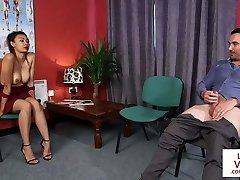 CFNM voyeur instructs jerkoff at physician office
