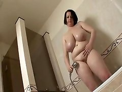 Big tit Plus-size take a shower