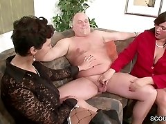 German MILF Show Couple to Ravage Superb in Threesome