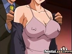 Hentai.xxx - Huge-chested Milf'S First Threesome