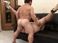Midget fucker satisfies a damsel