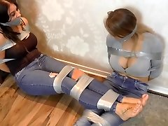 two big tit girls tied up with ductape