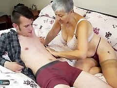 Old gal Savana torn up by student Sam Bourne by AgedLove