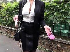 Beautiful Milf Ania humped in stockings
