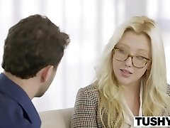 TUSHY Very First Anal For Platinum-blonde Babe Samantha Rone