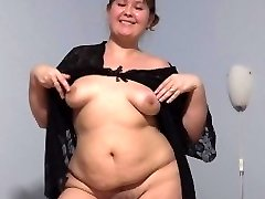 young cute plump with furry by a cunny, fucking with dildo.