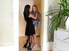 Mommy Horny enormous tits Thai MILF gives young Russian teen hottie