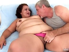 Fat female takes fat cock