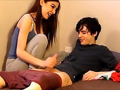 nubile caught her roommate nuzzling her panties