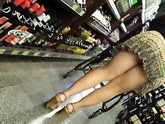 Candid Mature Panty - Ginormous Butt Spycam - Bendover Ass