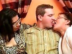 Delicious Fat Grandma Threesome