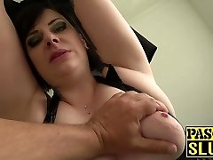 Chubby mature woman Elouise Lust deepthroat and harsh sex