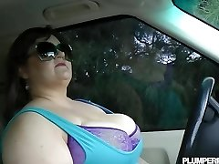 Giant Tit Plus-size Bille Austin is Pulled Over and Fucked By Cop