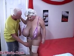 'Huge 3500cc Saline Implants Claudia Marie Railed Buttfuck'