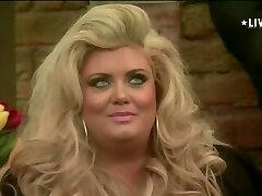 Blonde BBW in Massive Brother UK smoking