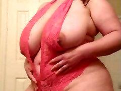 BBW Trys On Underwear 2