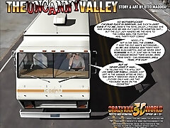 3D Comic: The Uncanny Valley. Scenes 1-2