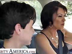 Insatiable America Mrs. Fuller (Vanessa Videl) teaches Juan how