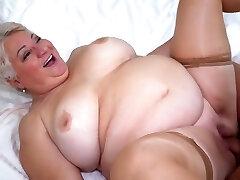 Big Milk Cans Big Ass Granny Fatty