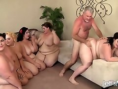 5 Super-naughty BBWs fucked by 3 cocks